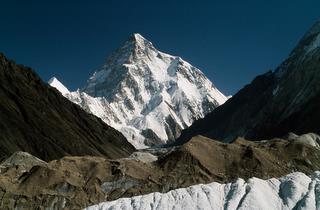 K2 (8.611m), von Concordia aus gesehen