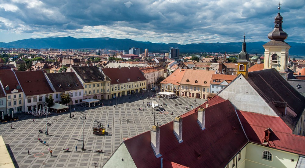 Zentraler Platz in Sibiu, Rumänien